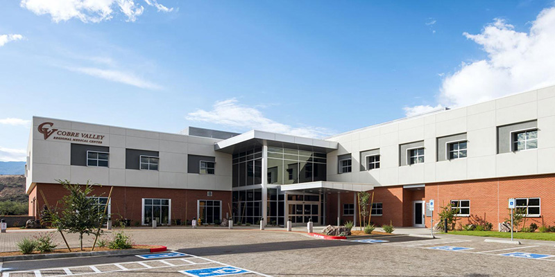 Cobre Valley Regional Medical Center Clinics exterior building shot